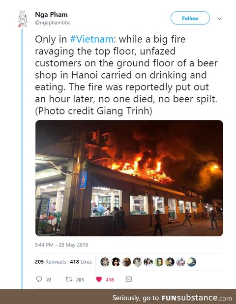 the beer must be pretty lit.