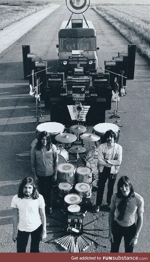 Everything that fits in Pink Floyd's touring van