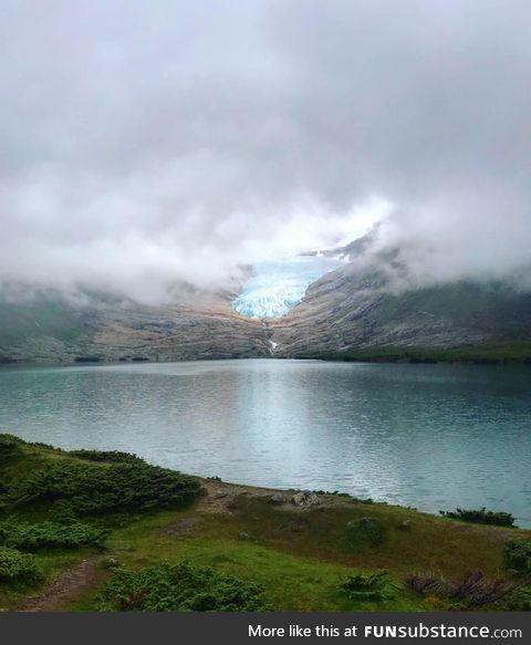 The glacier, ØKsfjordjøKelen in Norway