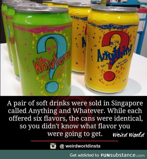 Singapore used to have this funny drinks