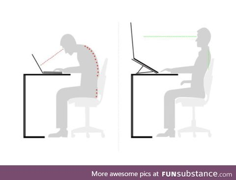 Not only does this laptop stand improve your posture, it also DOUBLES THE SIZE OF YOUR