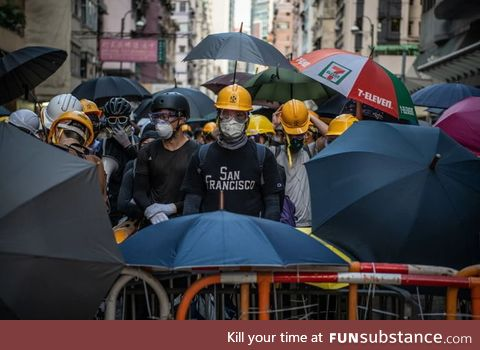11th week of protest in HK, despite the fear, the violence and Beijing threats, the Hong