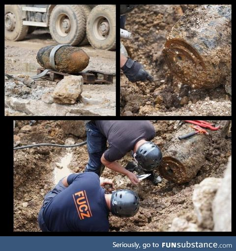 In Bosnia, Sarajevo they found air bomb from 1944 which is huge ( 500kg or 1100 lbs)