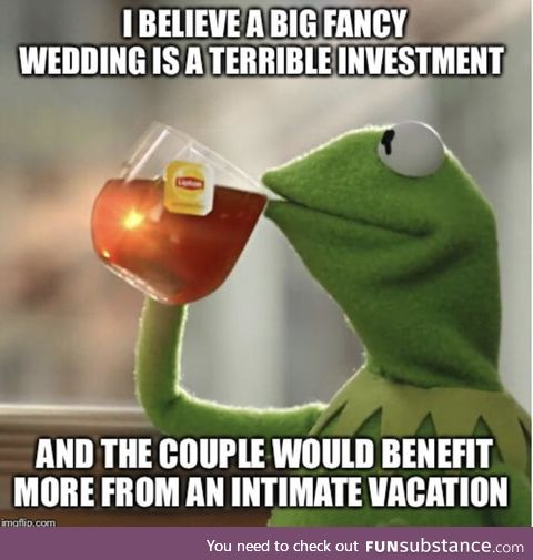 People come to weddings from obligation