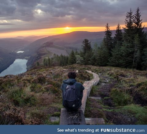 Morning hike in Wicklow Mountains /Ireland