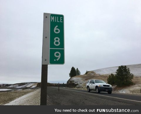 To stop theft, Washington State Department of Transportation changed the 69 miles marker