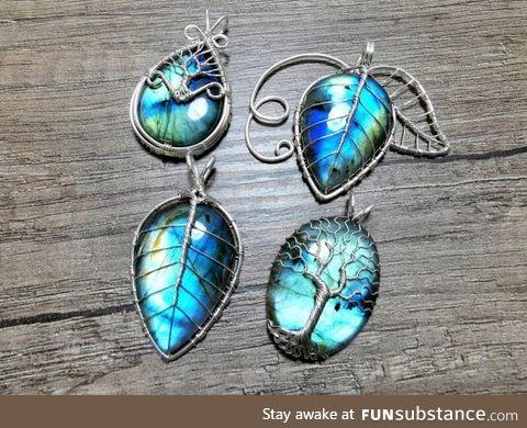 I made some elvish pendants