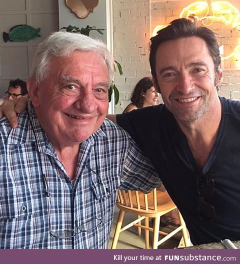 This man raised 5 children and blessed us with Hugh Jackman, Cheers to Mr. Jackman this