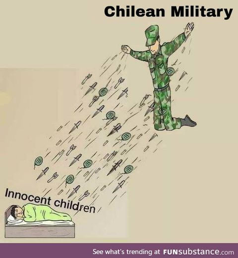 Chile, right now, with the military on the streets shooting their own people