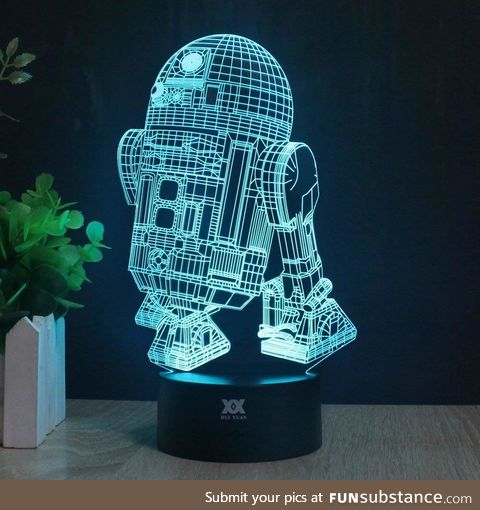 3D Lamp R2-D2 Table Night Light Force Awaken