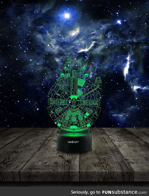 Star Wars Lamp 3D Night Light Millennium Falcon
