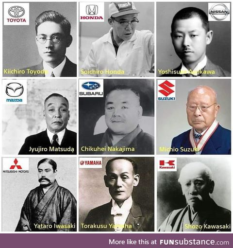 9 of the top Japanese automaker founders. Legendary