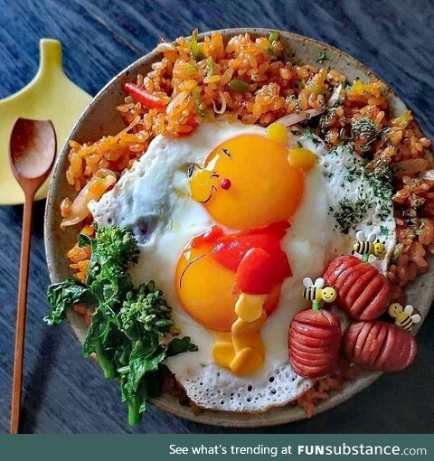 There's Pooh in your omelette