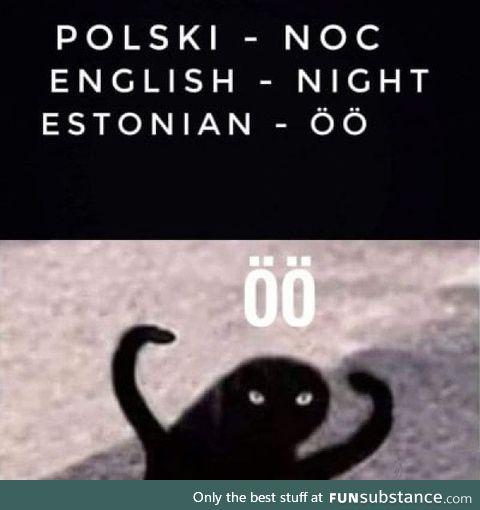 """""""Night"""" in Estonian"""