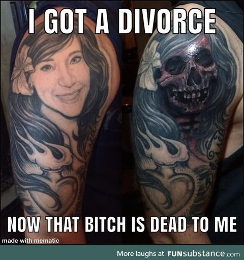 Cover up your ex wife's face 101