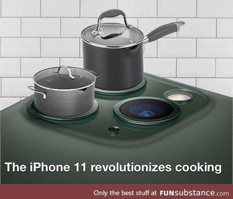 The iPhone 11 revolutionizes cooking