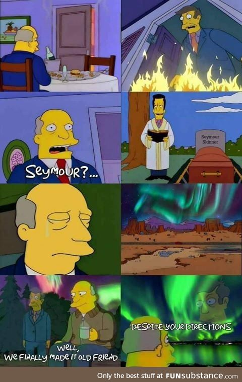 Don't worry mother it is just the northern lights