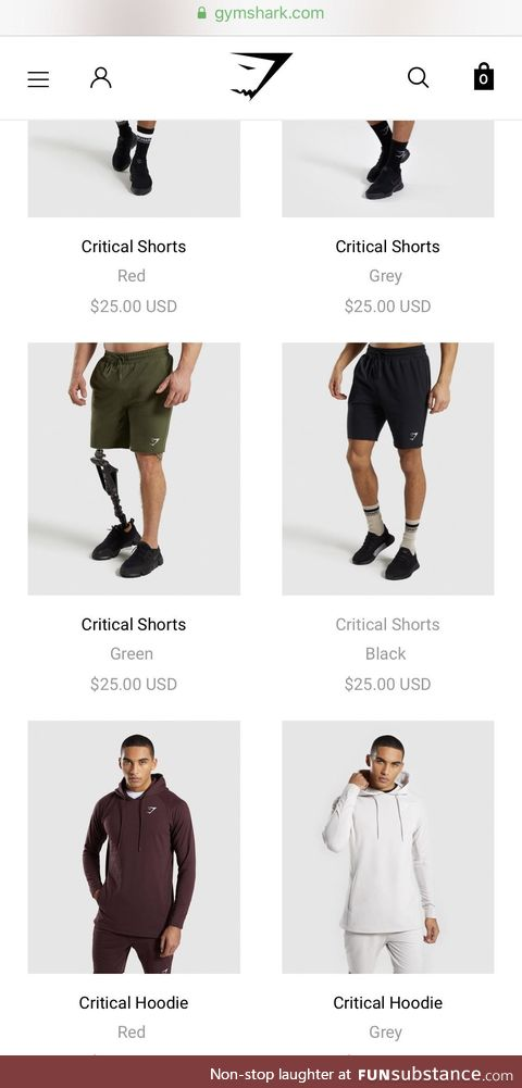 Props to Gymshark for using an amputee as a product model