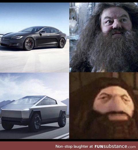 Low graphics Tesla truck