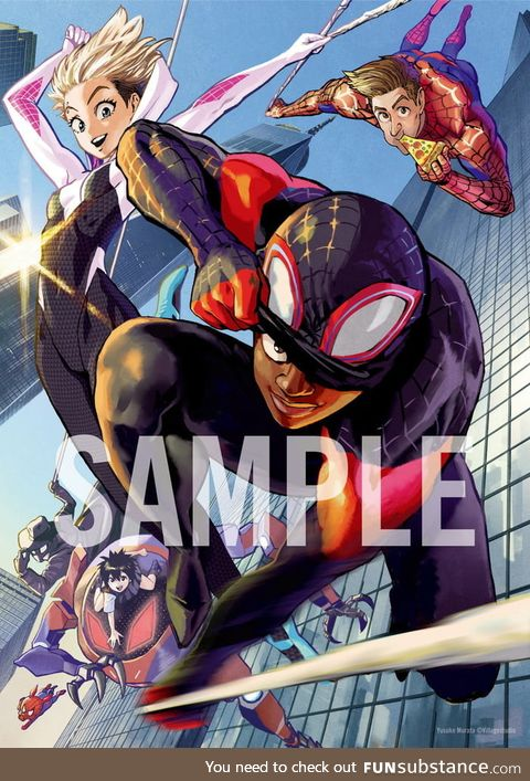 Spider-Man: Into the Spider-Verse Japanese limited illustration card by One Punch