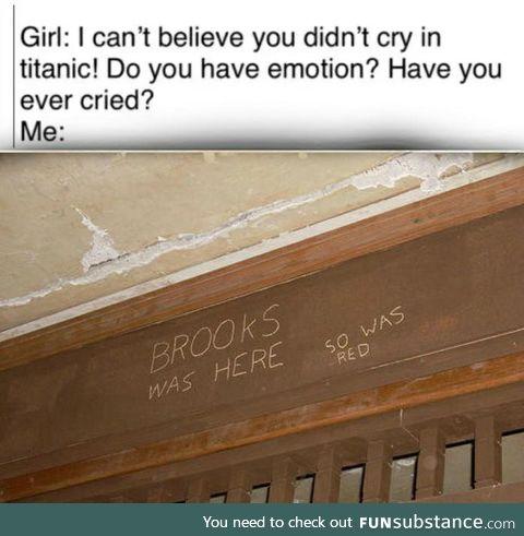 Every MAN cried here