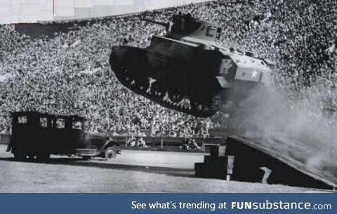 Old school monster truck rally's were rad