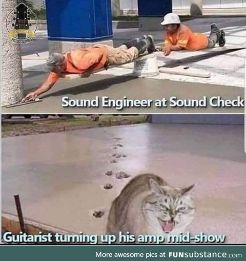 That precisely balanced sound check for a concert