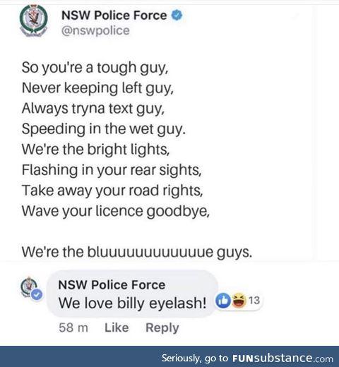 Wholesome australian police