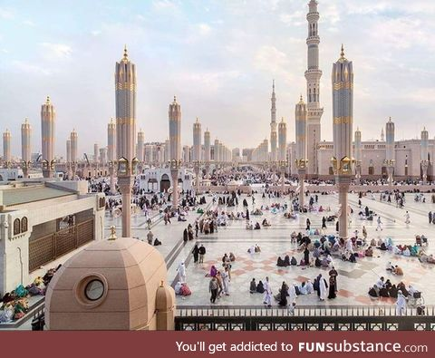 The city of Medina in Arabia looks like something from Star Wars