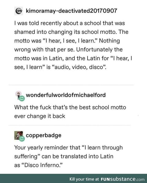 Learn baby learn... Disco Inferno!