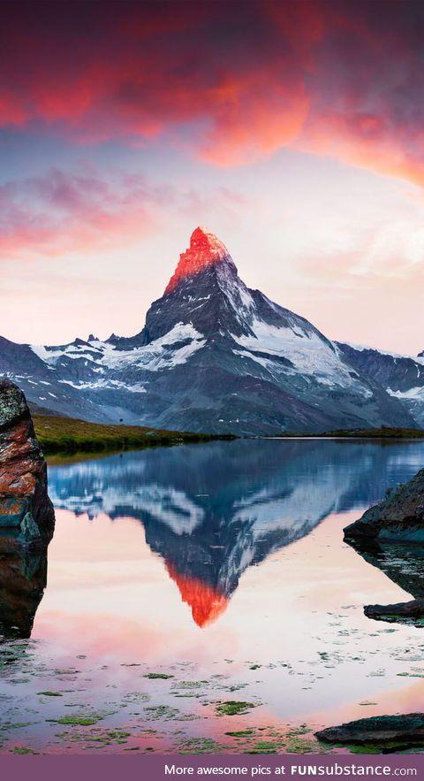 Sunrise on a mountain