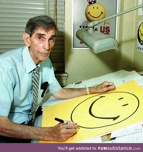 Meet Harvey Ross Ball. ~1963 he invented the smiley face