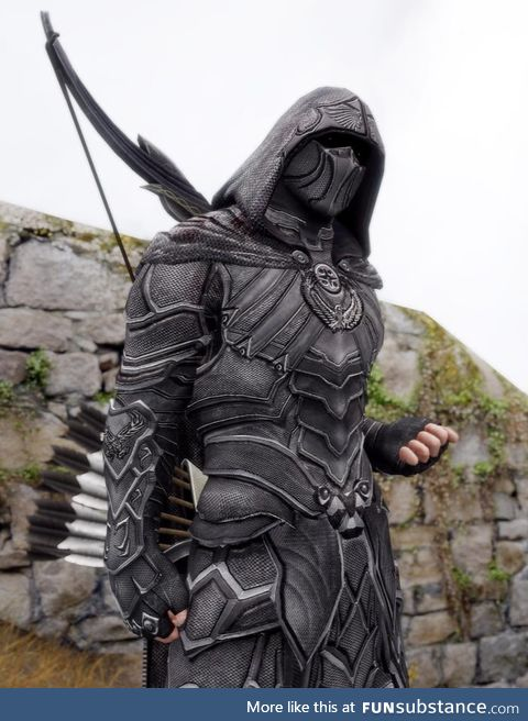 This well rendered Nightingale Armor looks like a real cosplay photo