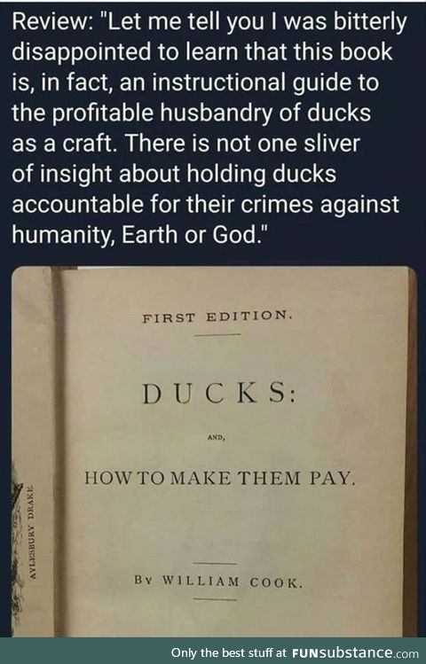 Never actually pay for a duck