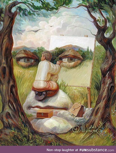 Oleg Shupliak self portrait