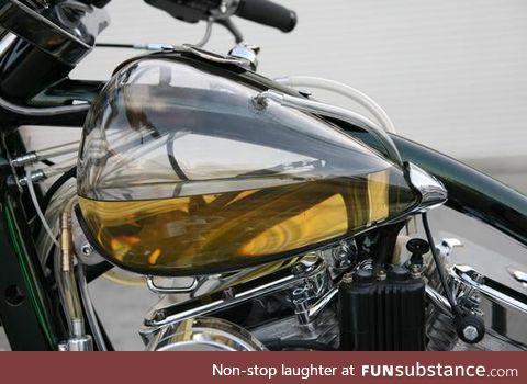 Pyrex glass fuel tank