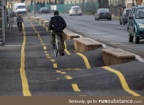 Just a Hungarian bicycle road