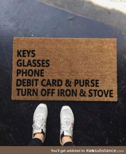 This door mat is a must have for some people
