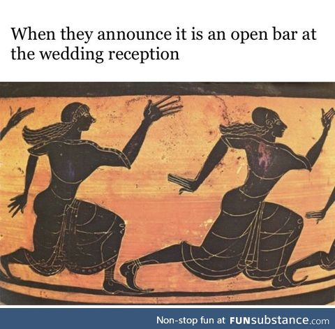 The only reason people go to weddings