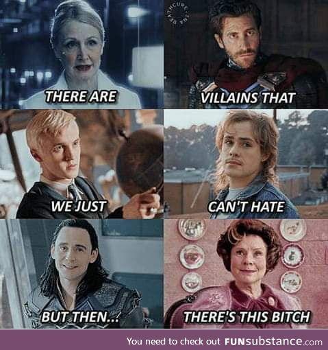 Dolores Umbridge was worse than Voldemort