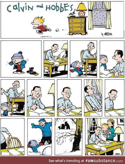 Calvin and Hobbes is wholesome as frick