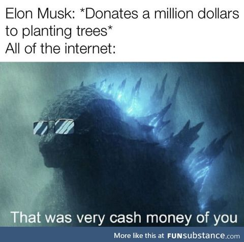 Elon evolving into Treelon in the championships of climate change