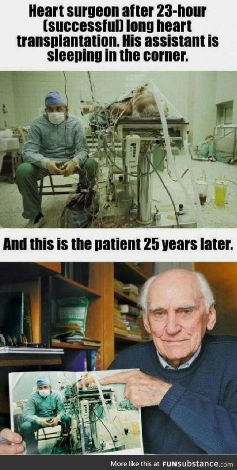 The efforts this surgeon made 25 years ago is the very reason this man is still alive