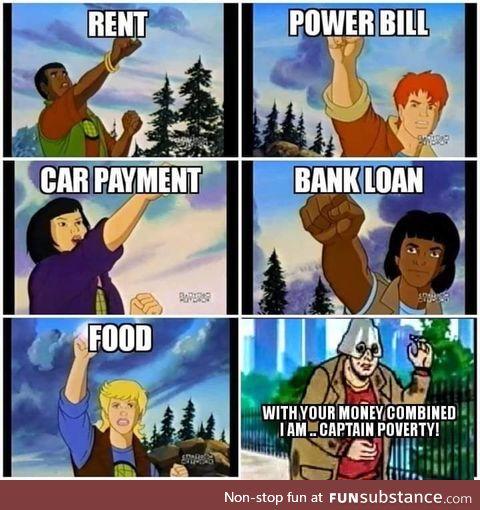 Captain poverty