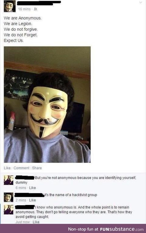 Non anonymously anonymous
