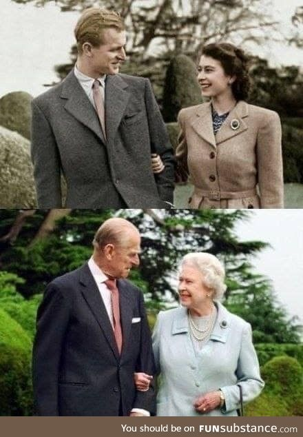 Queen Elizabeth and Prince Philip, after 65 years of marriage. Memory:  Lorenzo Lopez Jr