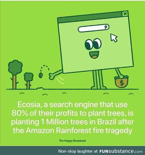 Ecosia earns money from clicks on the advertisements. Let's all ditch Google and use