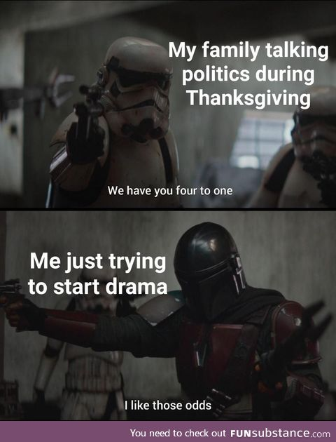 Looking forward to Thanksgiving arguments