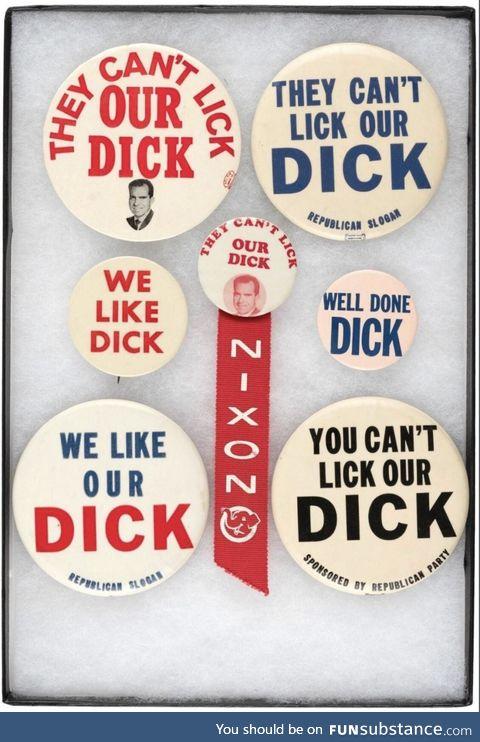 d*ck Nixon campaign flair