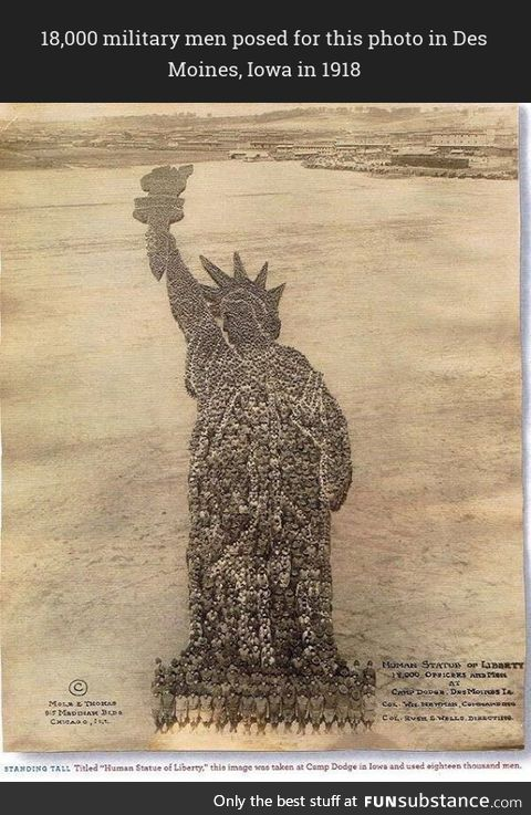 'The Human Statue of Liberty'